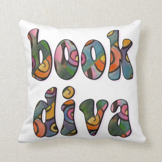 Book Diva Art Pillow
