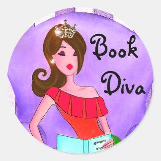 Book Diva stickers / Brunette Diva