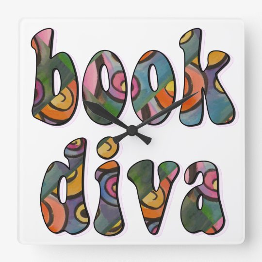 Book Diva Wall Clock