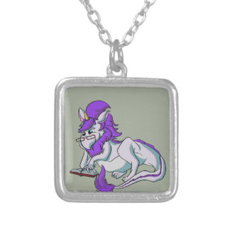 Book Dragon! Silver Plated Necklace
