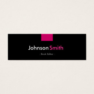 News editor business cards templates zazzle book editor rose pink compact mini business card reheart Choice Image