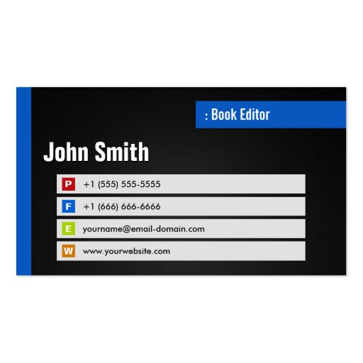 Book Editor - Stylish Theme QR Code Business Cards