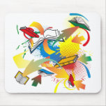 Book Explosion Mousepad