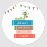 Book for Baby Shower Favor Sticker