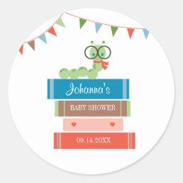 Book for Baby Shower Favor Sticker