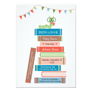 Book baby shower invitations zazzle book for baby shower invitation filmwisefo