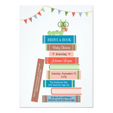 Toddler & Baby themed Book for Baby Shower Invitation
