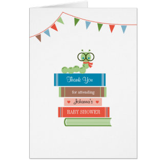 Book for Baby Shower Thank You Card