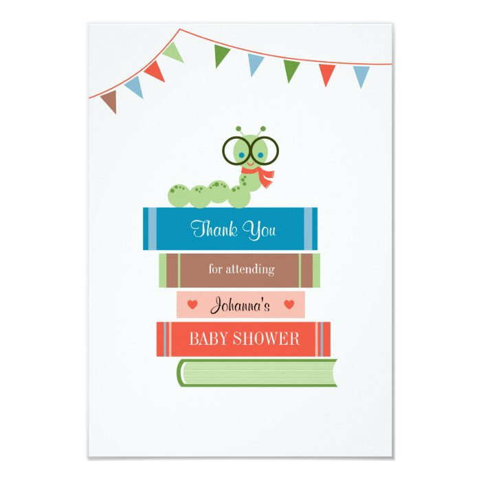 book for baby shower thank you card zazzle