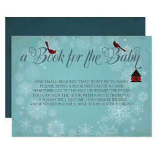 Book For The Baby, Winter Blue Insert Card