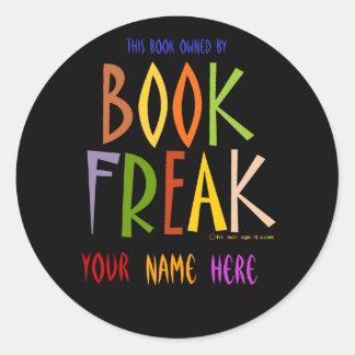 Book Freak Bookplate - Black