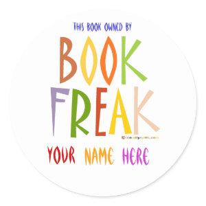 Book Freak Bookplate sticker