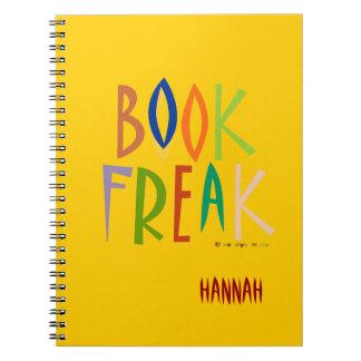 BOOK FREAK Notebook - yellow