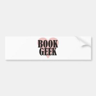 Book Geek Car Bumper Sticker