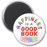 Book Happiness Refrigerator Magnet