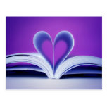 Book Heart Photography Postcard