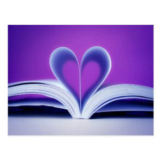 Book Heart Photography Postcard
