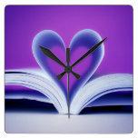 Book Heart Photography Wallclock