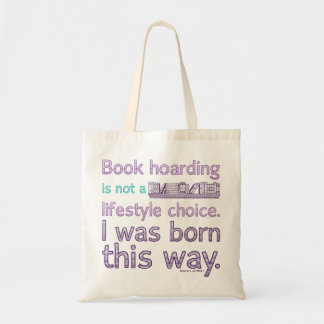 Book Hoarding Lifestyle Purple Tote Bag
