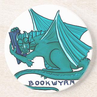 Book Hug Bookwyrm Drink Coaster