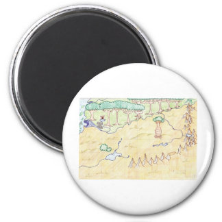 Book I Map 2 Inch Round Magnet