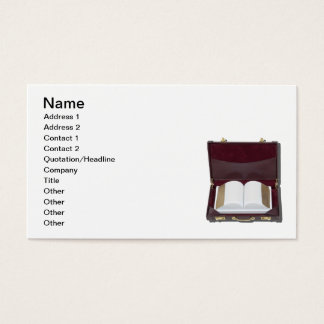 Book in Briefcase Business Card