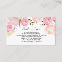 Book In Lieu Cards Watercolor flowers
