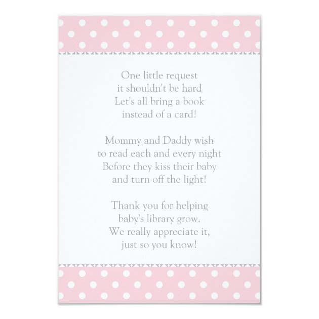book instead of card   baby shower insert   zazzle, Baby shower invitations