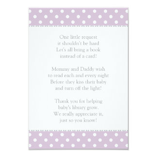 Book Instead of Card | Baby Shower Insert