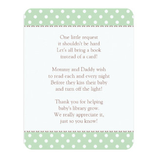 "Book Instead of Card | Baby Shower Insert 4.25"" X 5.5"" Invitation Card"