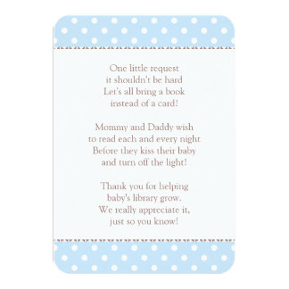 "Book Instead of Card | Baby Shower Insert 3.5"" X 5"" Invitation Card"