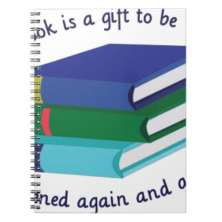 Book Is A Gift Spiral Notebooks