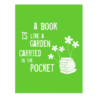 Book Is Like A Garden Carried In The Pocket Postcard