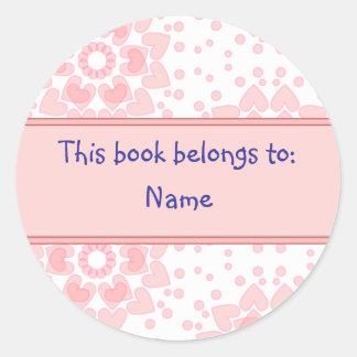 Book Label Classic Round Sticker