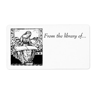 Book labels~ From the Library of... Medieval maid Label