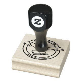 Book Library Teacher Rubber Stamp
