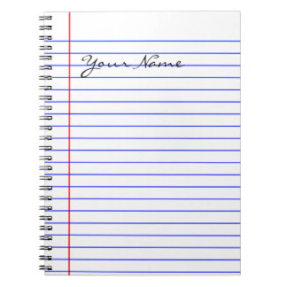 Book Lines (Put Your Name) Spiral Notebook