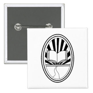 Book logo pin pinback buttons