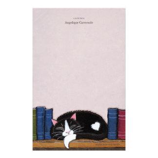 Book Love | Cat on a Book Shelf Note Paper