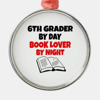 Book Lover 6th Grader Metal Ornament