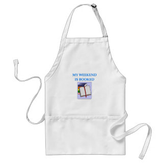 book lover adult apron