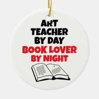 Book Lover Art Teacher Ceramic Ornament