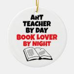 Book Lover Art Teacher Ornament