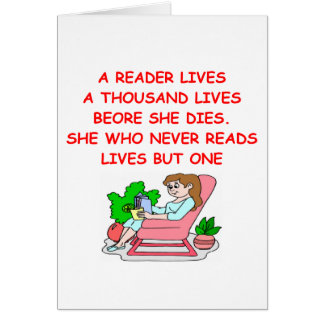 book lover card