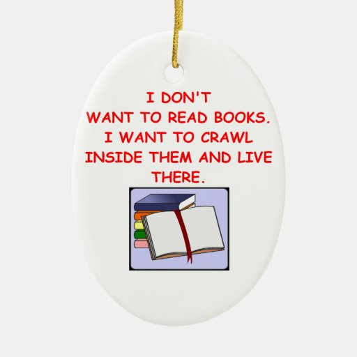 book lover christmas tree ornaments