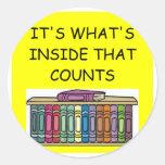 BOOK lover Classic Round Sticker