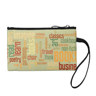 Book Lover Colorful Text Design Coin Purses
