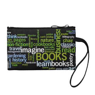 Book Lover Colorful Text Design Change Purses