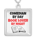 Book Lover Comedian Necklace