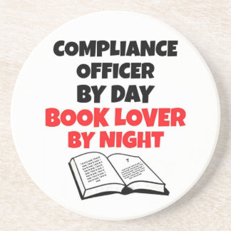 Book Lover Compliance Officer Coaster